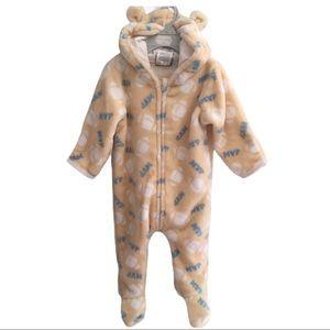 ONSIE MVP Footie Soft Warm Bear Ear Pajamas
